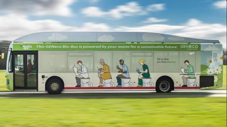 The UK Now Has A Bus That's Powered By Poop