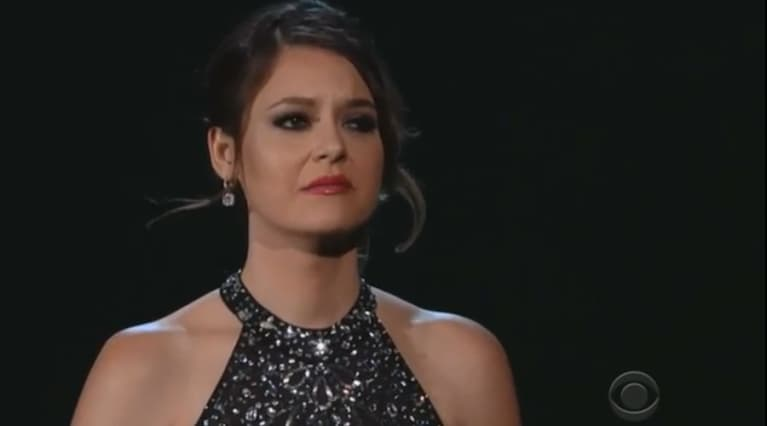Brooke Axtell, Survivor Of Domestic Abuse, Steals The Show At Grammys