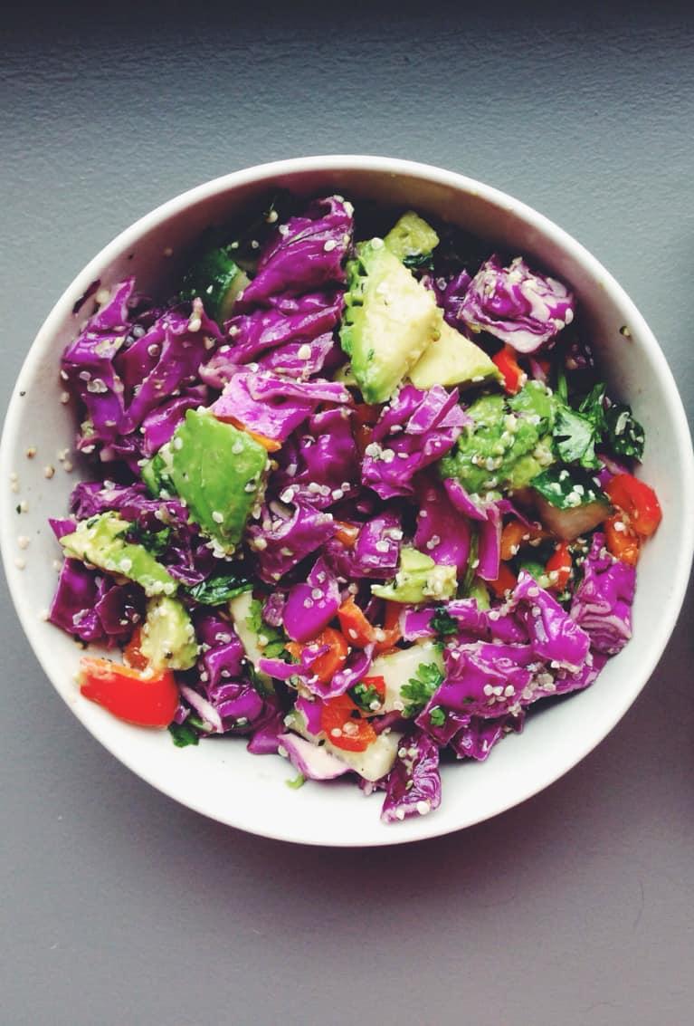 10-Minute Meal: Cabbage + Hemp Salad