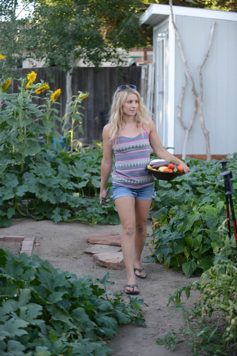 Pro Skier Caroline Gleich Dishes On Yoga And Her Organic Garden