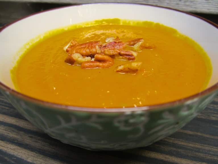 Vegan Curried Carrot & Parsnip Soup
