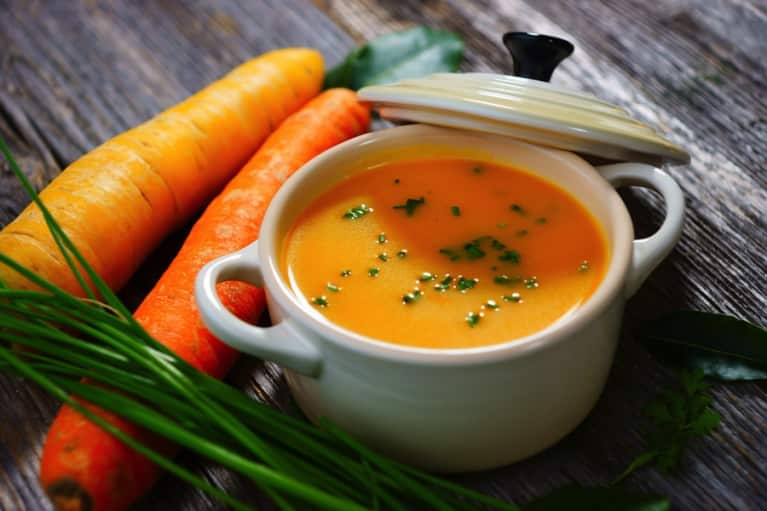 Squash, Carrot, and Ginger Soup (A Fall Flavors Bonanza!)