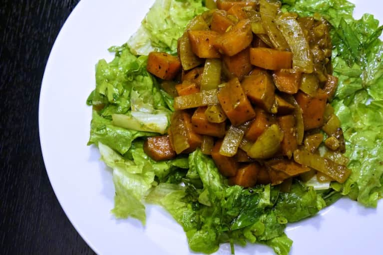 Quick & Easy Curried Sweet Potatoes