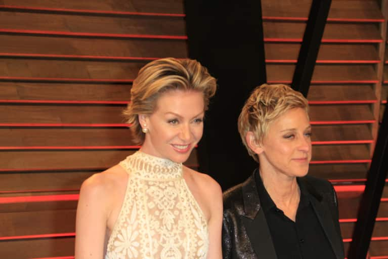 Ellen DeGeneres Catches Portia De Rossi Doing The Jane Fonda Workout