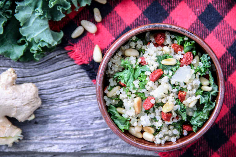 Eat Real With This Festive Quinoa & Kale Bowl