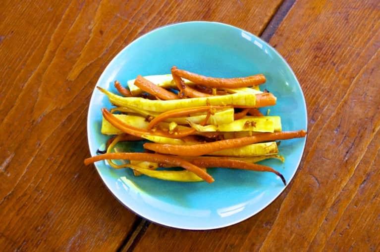Ginger & Turmeric-Glazed Carrots & Parsnips