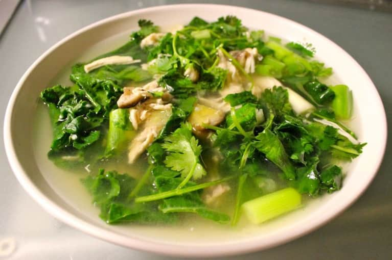 Immune-Boosting Chicken & Ginger Soup