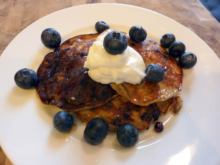 Gluten-Free Blueberry Pancakes (Perfect For A Cold Winter Morning!)