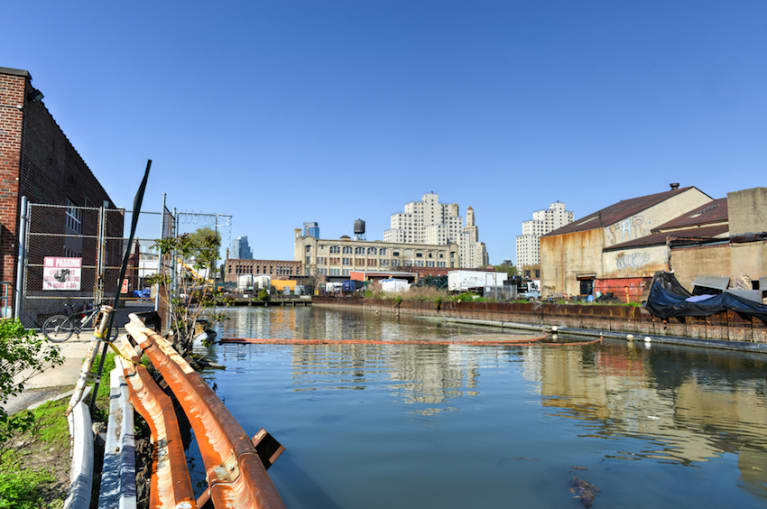 Man Swims Through Poop-Laden Gowanus Canal To Honor Earth Day