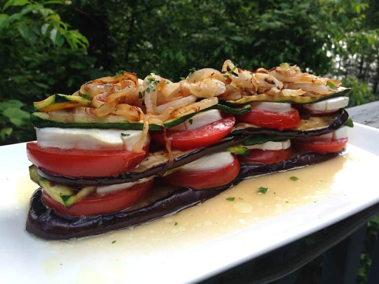 Grilled Vegetable Napoleon (It's Gluten-Free!)