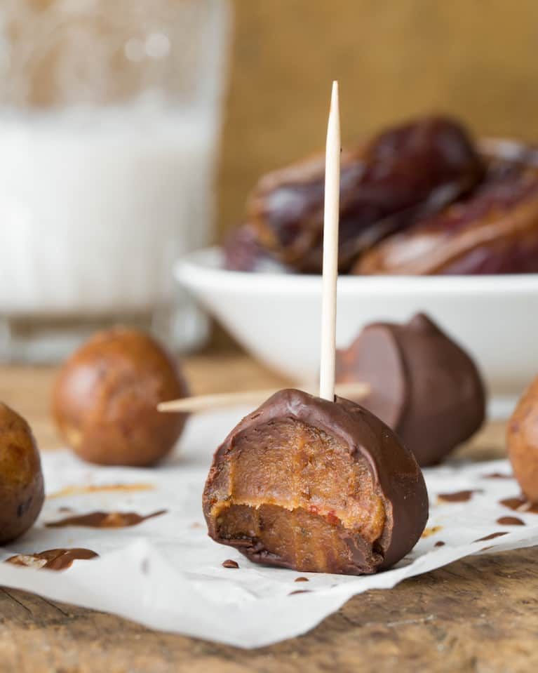 Raw Chocolate-Coated Caramel YOLO Balls