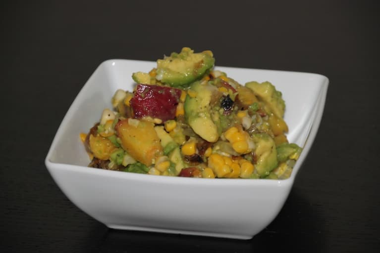 Grilled Peach & Avocado Salsa (Vegan & Gluten-Free)