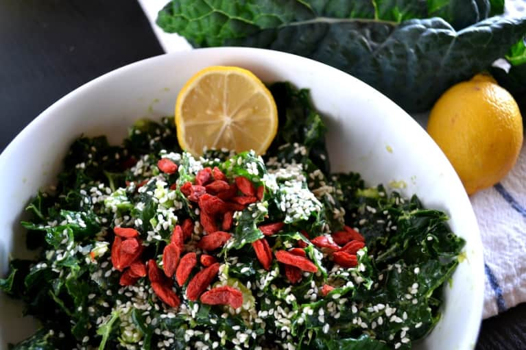 The Perfect Kale Salad (Co-Starring Goji Berries!)