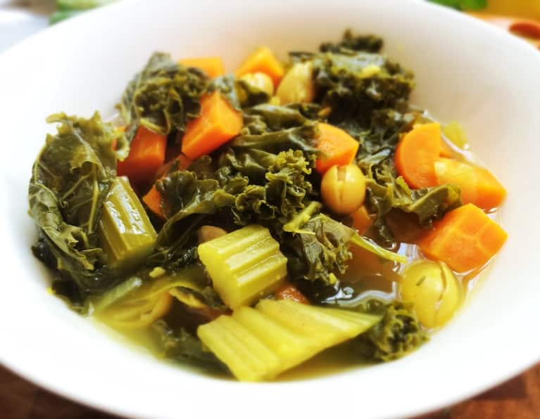 Hearty Kale & Lima Bean Soup
