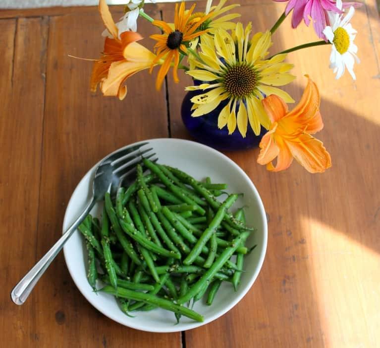 Summer Green Beans With Garden Pesto (Vegan Recipe)