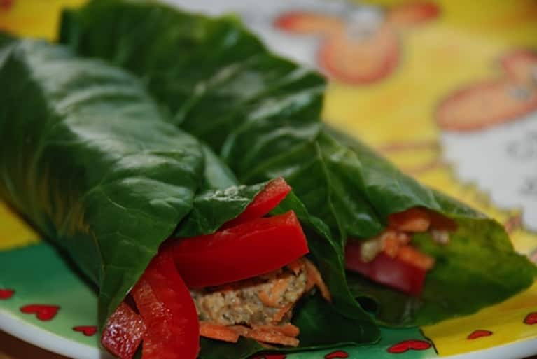 Vegan Recipe: Lemon-Pepper Collard Wraps