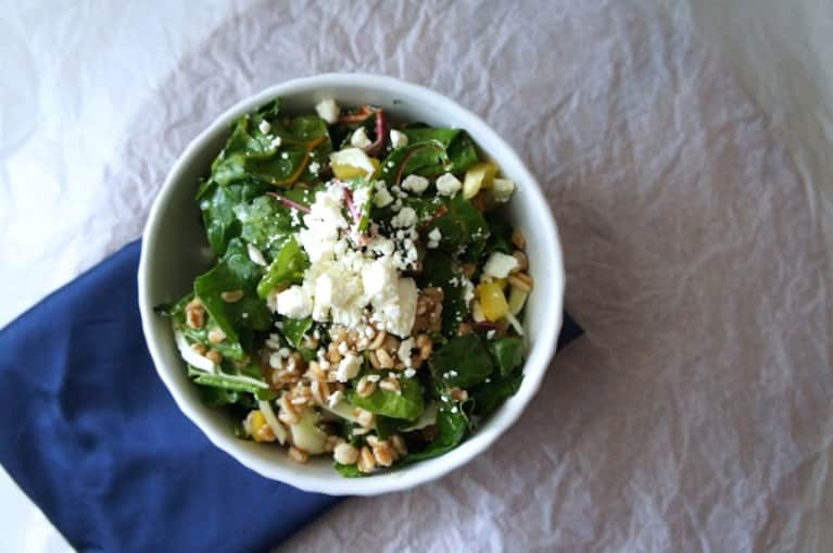 Summer Salad With Lemon, Feta & Farro