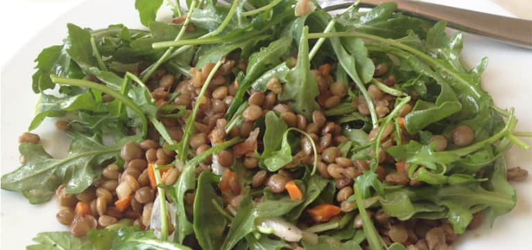 Lentil Salad With Arugula & Endive