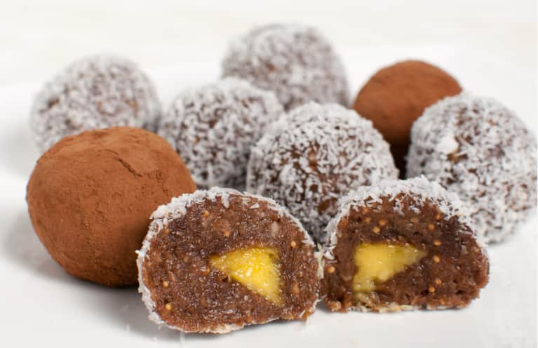 Carob Truffles With Mango Filling