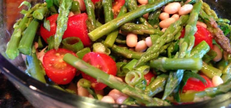Navy Bean & Asparagus Salad