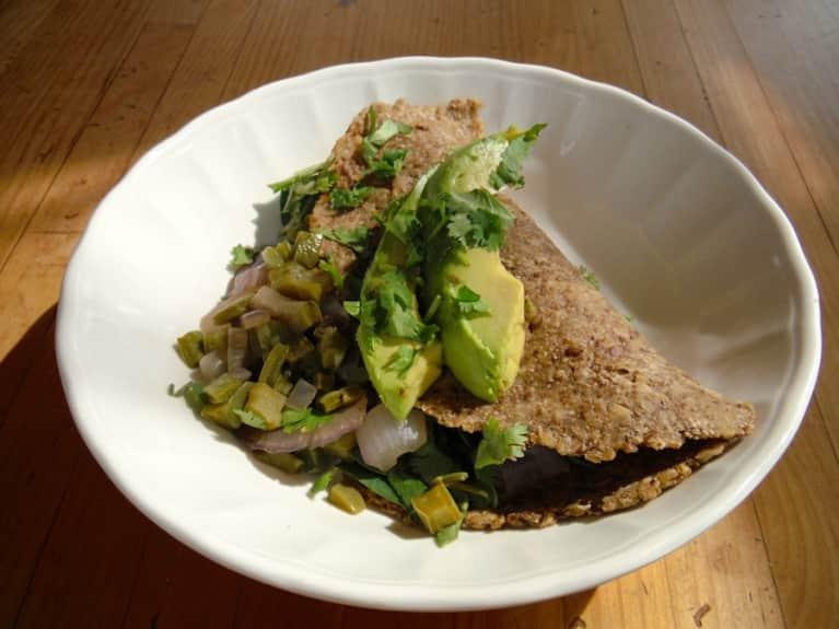 Nopal Tacos With Avocado!