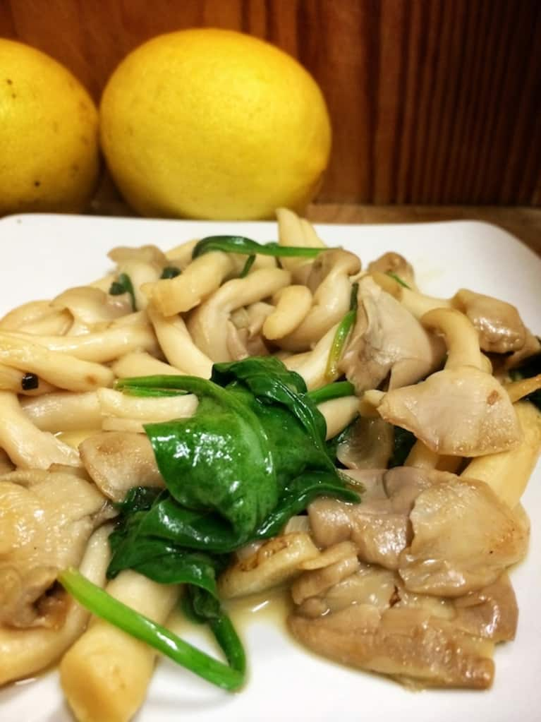Lemon-Garlic Oyster Mushrooms (A Delicious Vegan Side!)