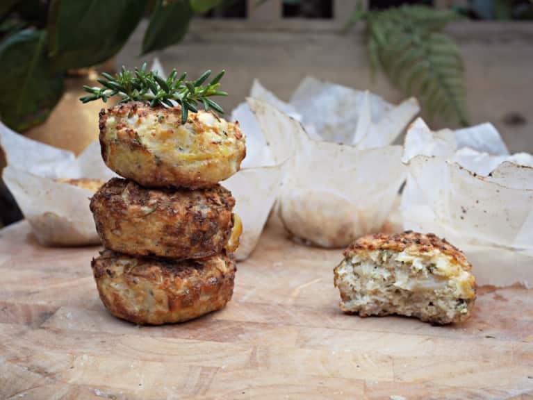 Goat Cheese & Rosemary Paleo Muffins