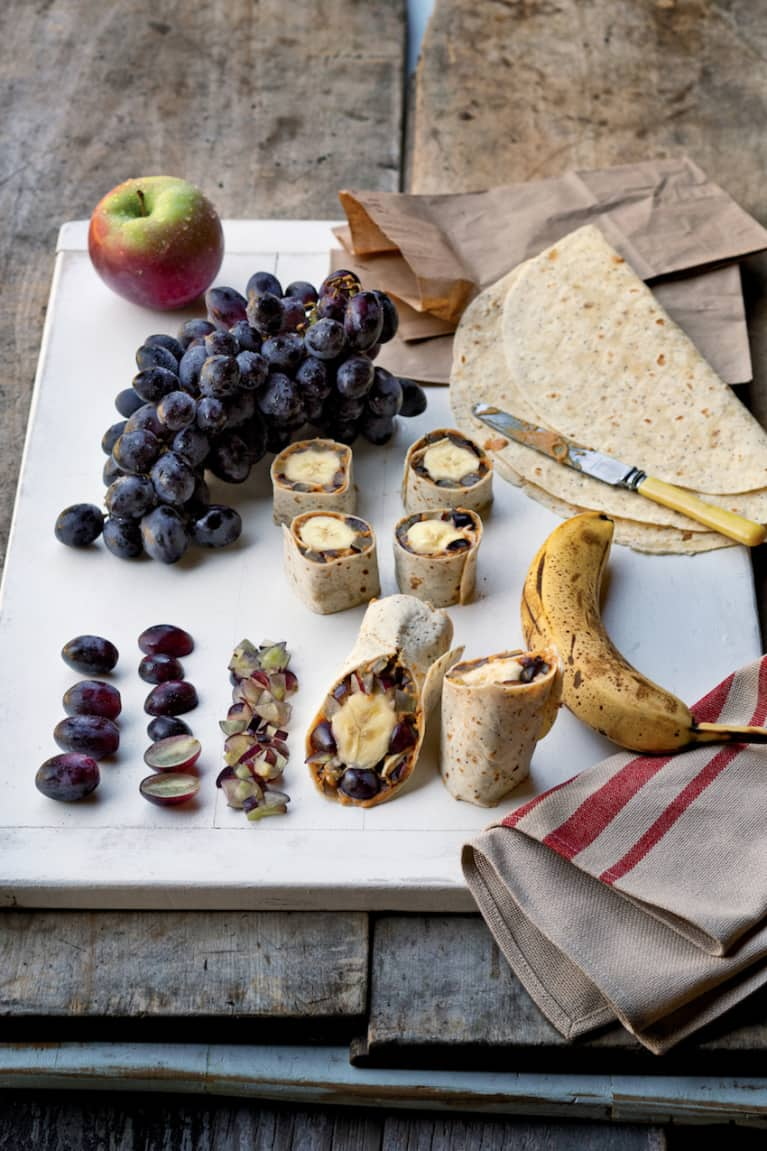 Perfect On-The-Go Meal: Vegan Peanut Butter & Grape Wrap