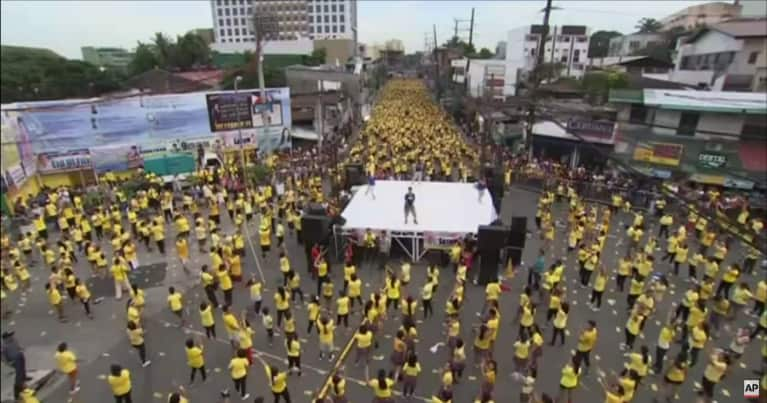 Watch 12,975 People Break The Record For World's Largest Zumba Class