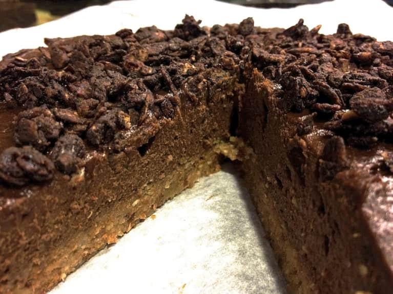 Raw Vegan Chocolate Mousse Cheesecake