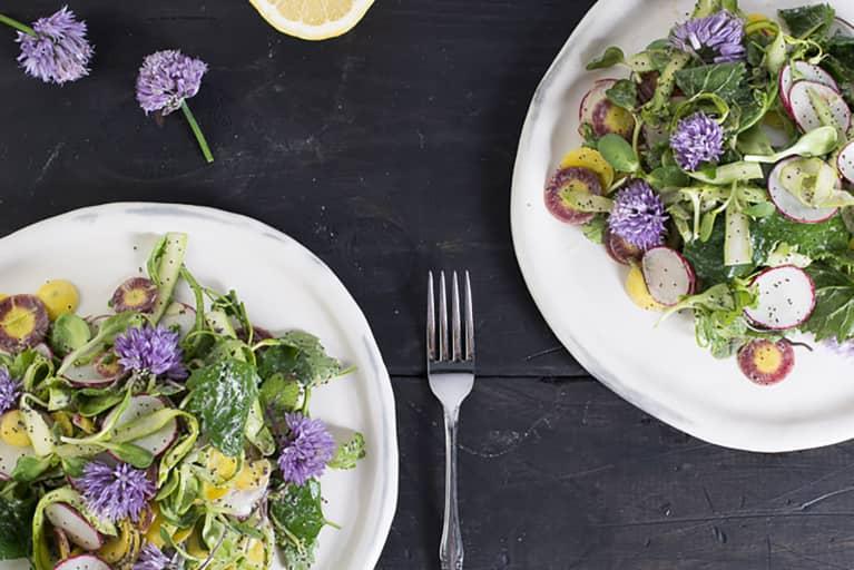 Farmer's Market Salad With Wild Spinach + Asparagus