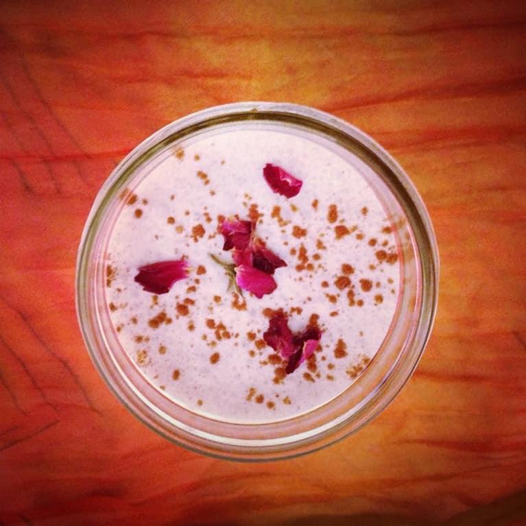 Nourishing Coconut-Rose Milkshake