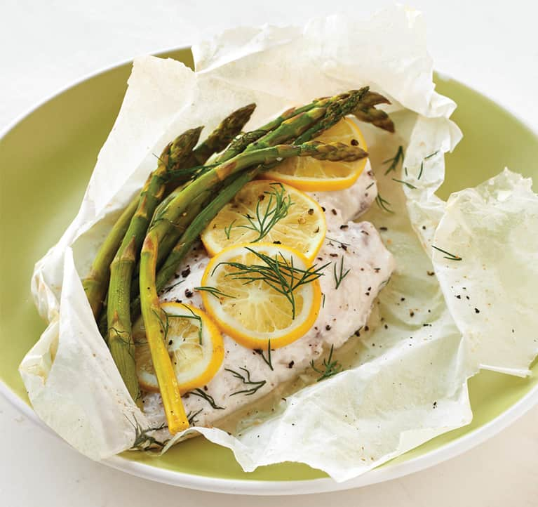 In Season Now: Asparagus + Snapper Cooked In Paper