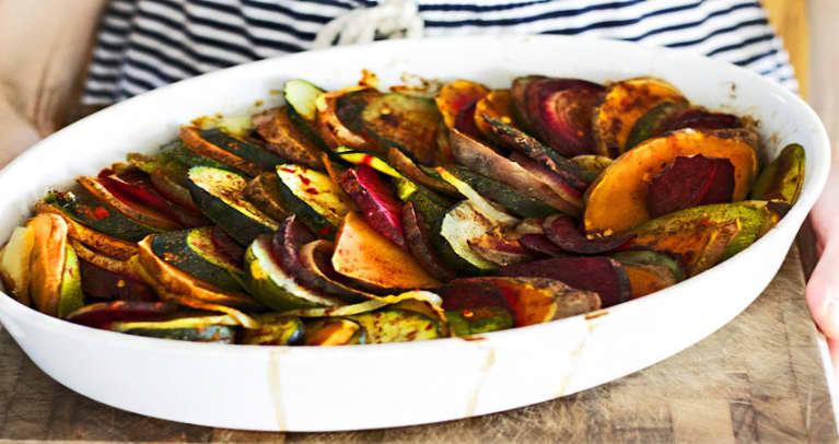Spiced Summer Vegetable Casserole