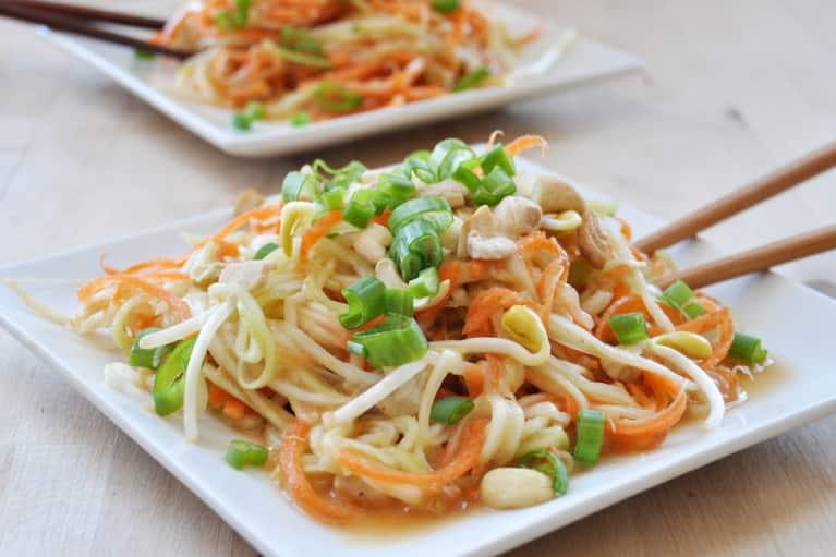 Easy Raw Veggie Peanut Noodles