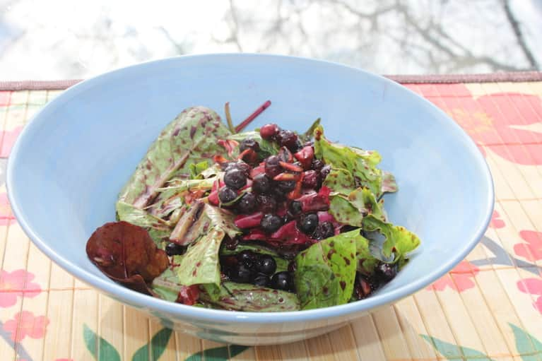 Blueberry & Roasted Almond Spring Salad