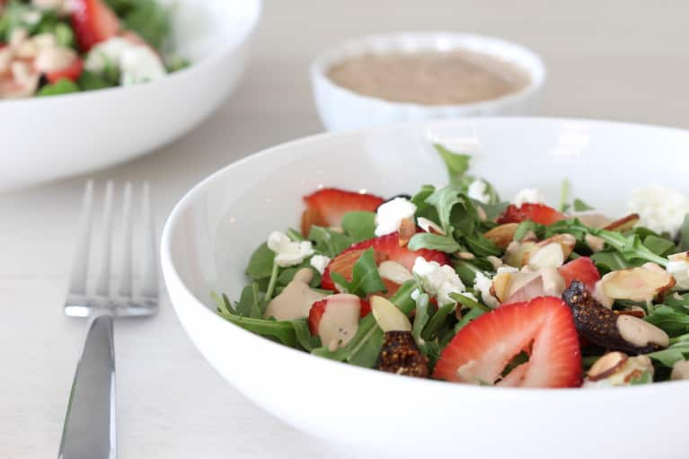 Strawberry Fig Salad with Creamy Balsamic Poppy Seed Dressing