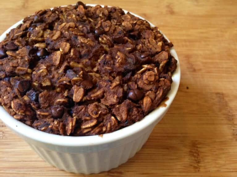 Chocolate Chip & Banana Baked Oatmeal (Gluten-Free & Vegan!)