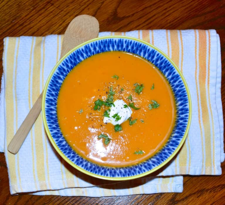 Vegan Sweet & Spicy Chipotle Sweet Potato Soup