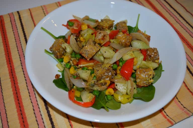 Roasted Veggie & Tempeh Salad