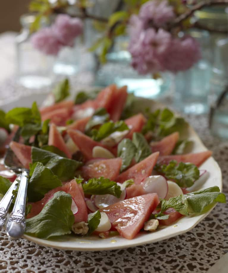 Watermelon & Radish Salad With Lemon Vinaigrette