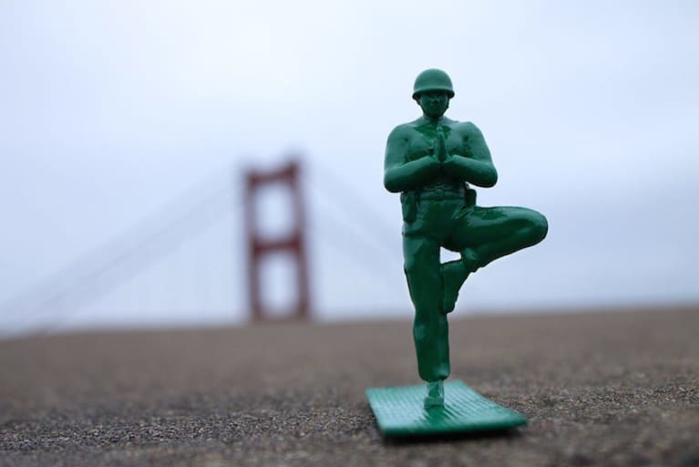 Fed Up With Violent Toys? Check Out Yoga Joes!