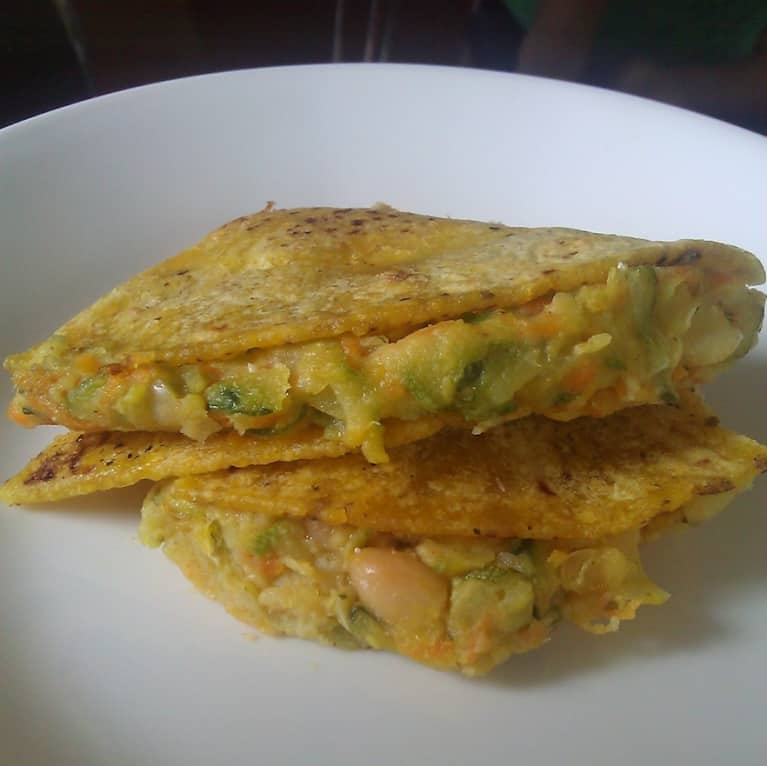 Healthy Zucchini Quesadillas (Vegetarian Recipe)