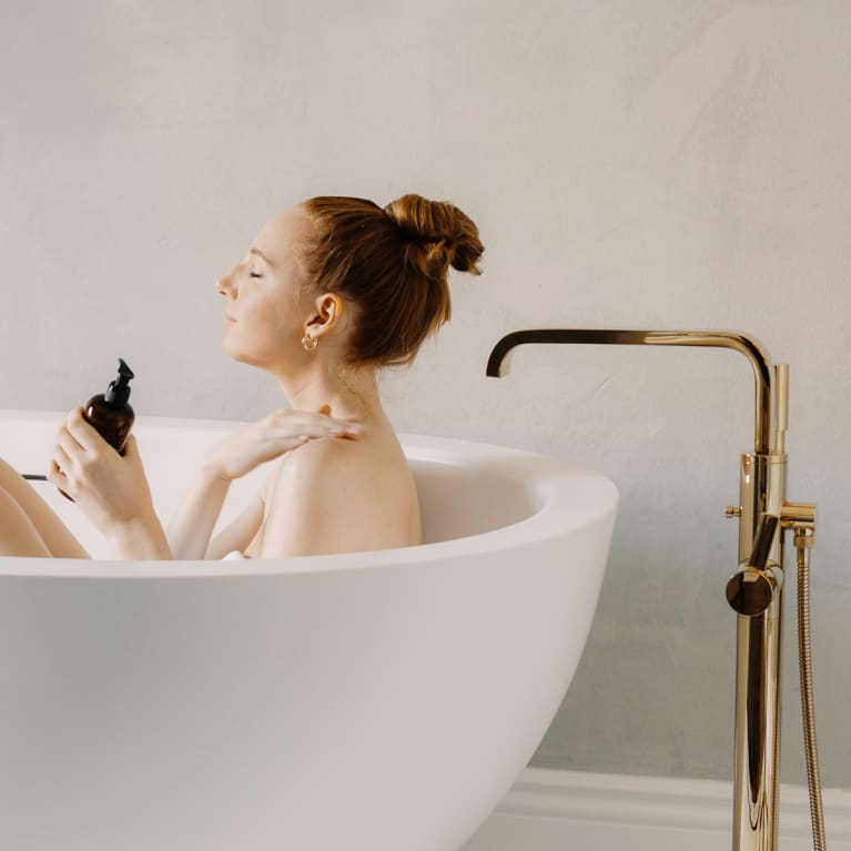 Woman In a Bath Tub