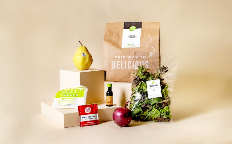 Components of a Hello Fresh meal kit