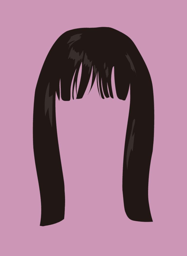 textured bangs