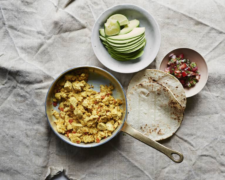 Anytime Tofu Scramble With Salsa Cruda