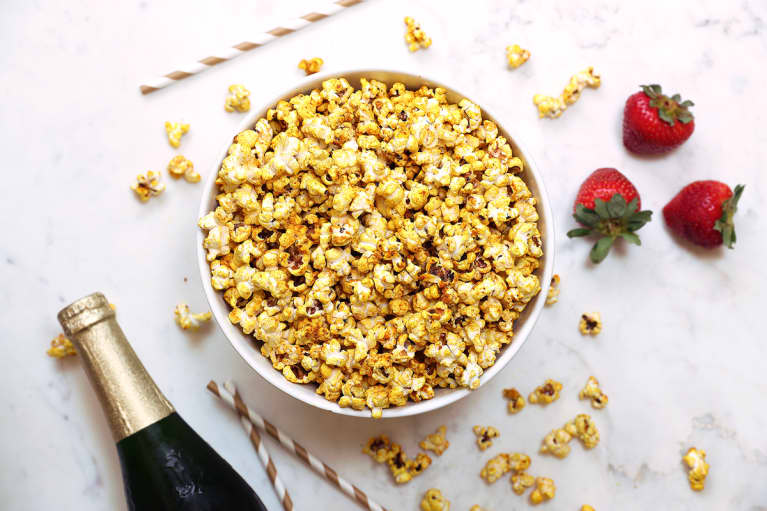 This Golden Turmeric Popcorn Will Win Best Snack At Your Oscar Party