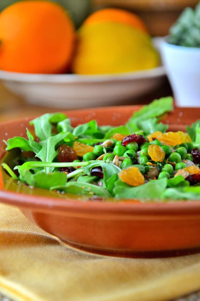 Arugula + Quinoa Salad With Cilantro Lime Dressing