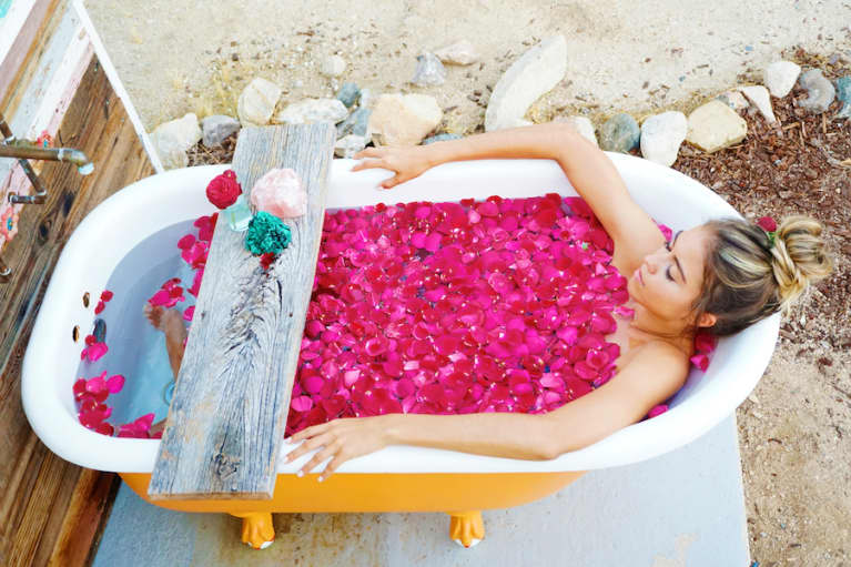 Soak In Loving Energy With This Crystal-Infused Bath Ritual